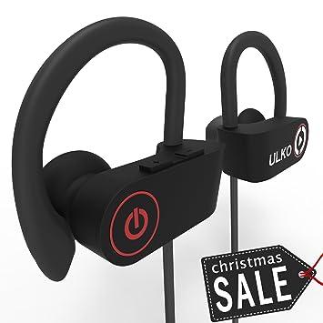 Bluetooth auriculares, mejor auriculares inalámbricos con micrófono auriculares deporte running auriculares deporte auriculares a prueba de sudor ...