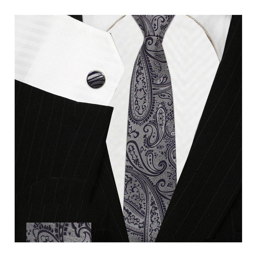 424911079a9 Bestow Metallic Paisley Tie Set