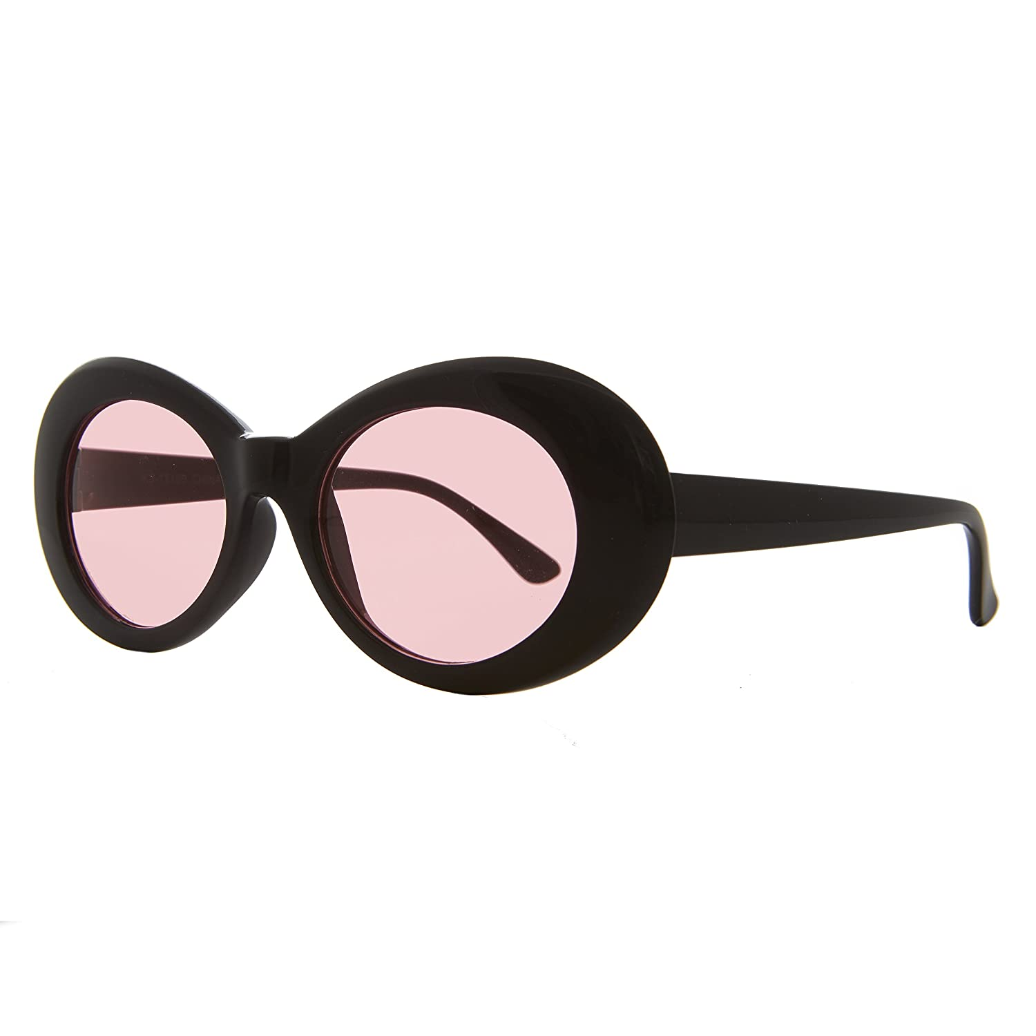 Black Clout Sunglasses with Pink Lens