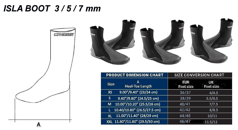 Cressi Metallite Socks 5 mm Talla EU 46 Color Negro