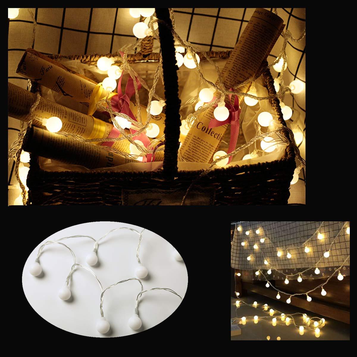 Arbre de No/ël etc Jardin kacai Guirlande Lumineuse 80 Petites Ampoules LED 10M Fil Souple 8 Modes Eclairage D/écoration Int/érieur et Ext/érieur Festival pour Maison