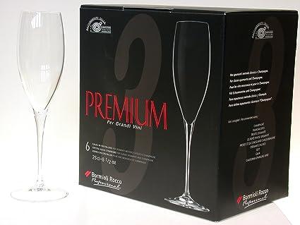 BORMIOLI ROCCO Set 12 Calici Premium Champagne Cl25 Arredo Tavola