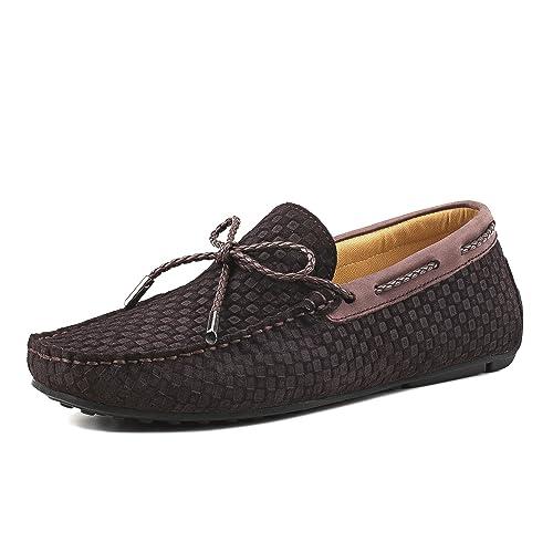 12e37556f6ef1 Shenduo Zapatos de Cuero - Mocasines cómodos con Cordones de Moda para  Hombre D7166  Amazon.es  Zapatos y complementos