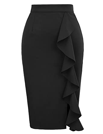 060455ecb8c GRACE KARIN Womens Stretchy Slit Wear to Work Office Pencil Skirt Size S  Black
