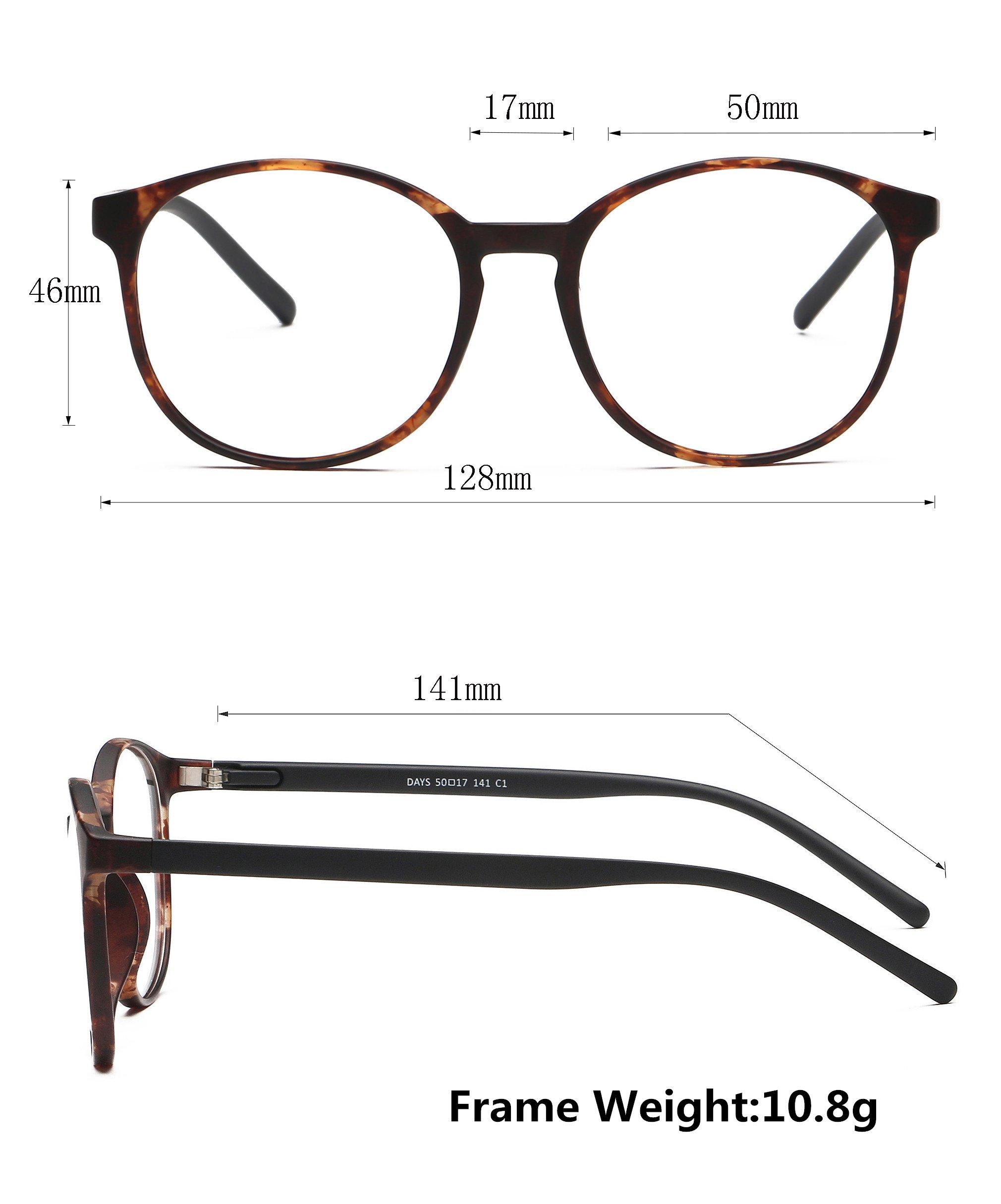 LifeArt Blue Light Blocking Glasses,Cut UV400 Transparent Lens,Computer Reading Glasses,Anti Eyestrain/Anti Scratch/Anti Smudgy,Sleep Better for Women/Men(LA_Days_Tortoise,0.00,No Magnification) by LifeArt (Image #3)
