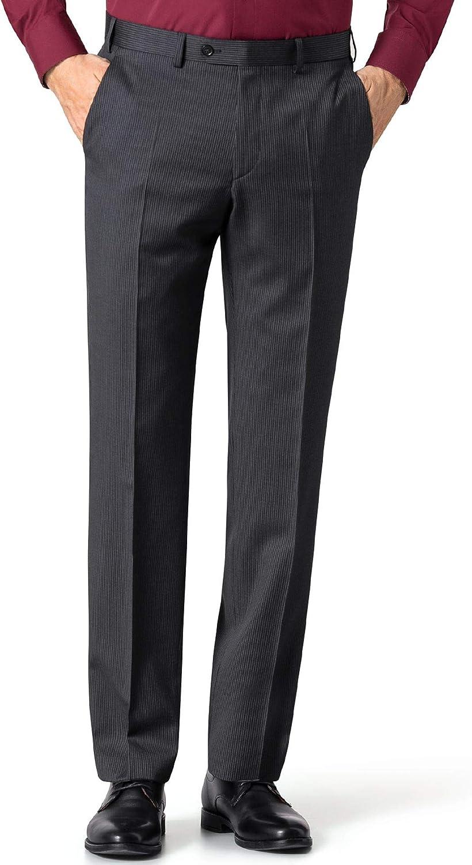 Walbusch Herren Nadelstreifen Anzug-Hose Regular Fit einfarbig