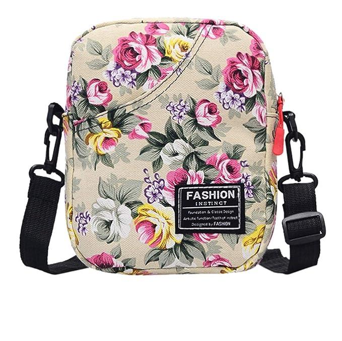 Amazon.com: Bolsas y bolsos para mujer, lona de moda con ...