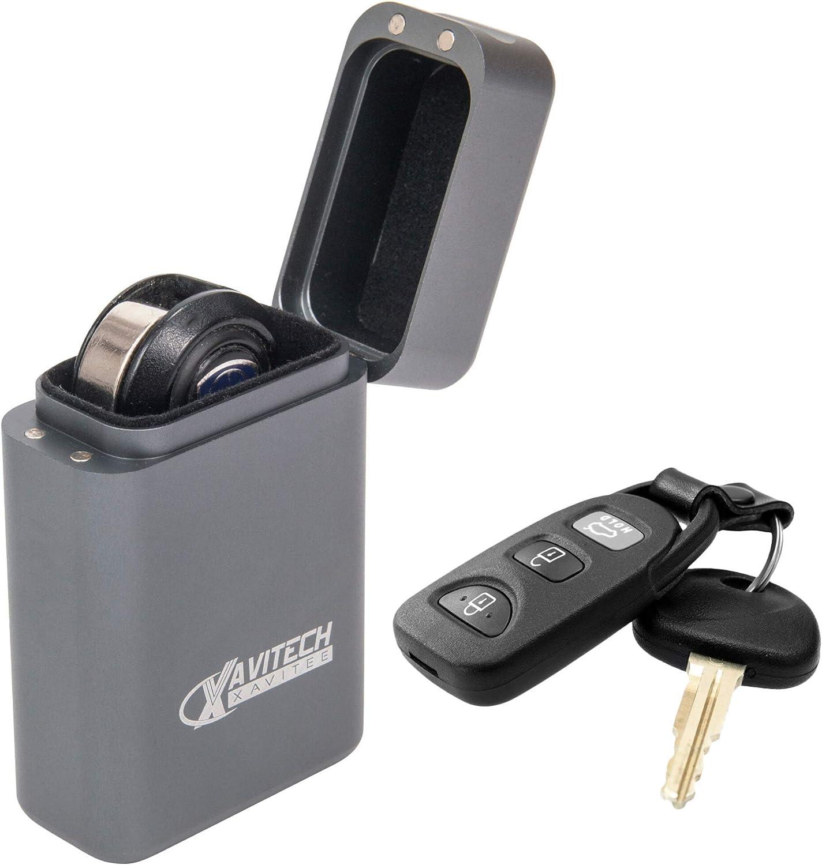 Custodia in alluminio RFID antifurto Faraday per chiavi auto antifurto gabbia senza chiave e scatola di metallo sicura per chiavi auto Keyless Car Key Signal Blocker Box