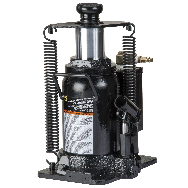 Amazon.com: Omega 18206C Black Hydraulic Bottle Jack with Return Springs - 20 Ton Capacity: Automotive