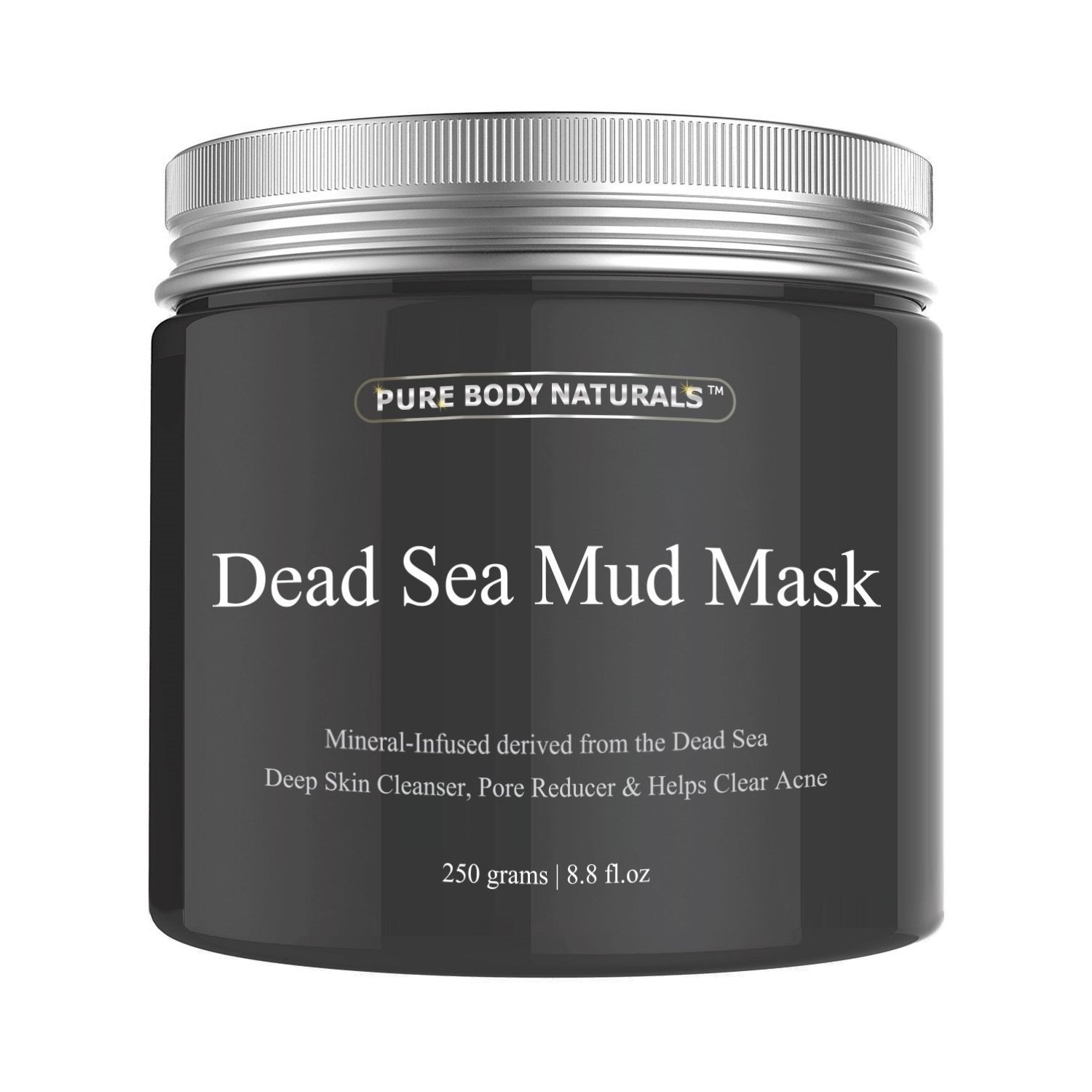 Dead Sea Mud Mask for for Facial Treatment, Minimizes Pores, Reduces Wrinkles, 250g/ 8.8 fl. oz Pure Body Naturals MudMask-646437061445
