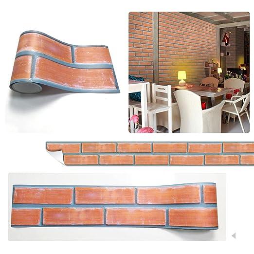 Yunt Selbstklebende Deko-Tapete, Peel-Stick Brick Muster Tapete für ...