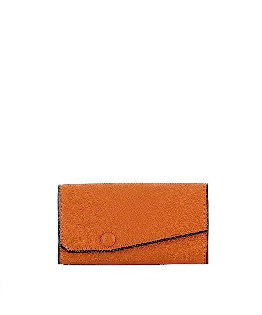 vasta selezione di 486f1 d5253 Valextra Portafoglio Donna V1l76028aranrd Pelle Arancione ...