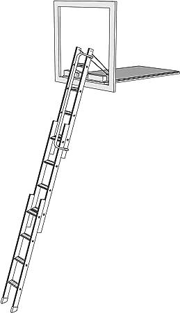 Mini Vertical escalera para desván - Mezzanine acceso escalera. Aluminio escalera de cabeza deslizante Vertical. Rebecca hose