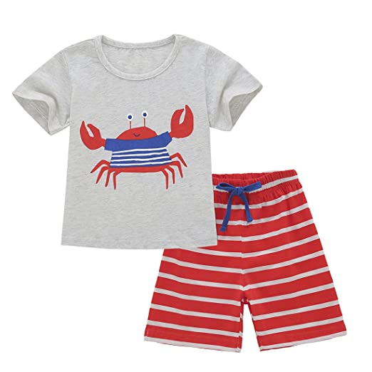 Amazon Com Cellicigal Baby Boy Clothes Sets Animal Print Summer