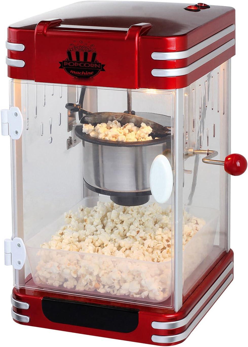 Maquina de hacer palomitas de maiz palomitero XXL acero sistema integrado de caldeo 6244