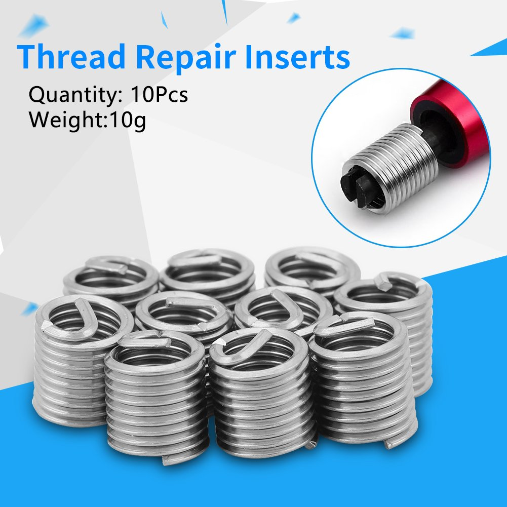Amazon.com: 10Pcs Stainless Steel Wire Thread Inserts Helicoil M6 x ...