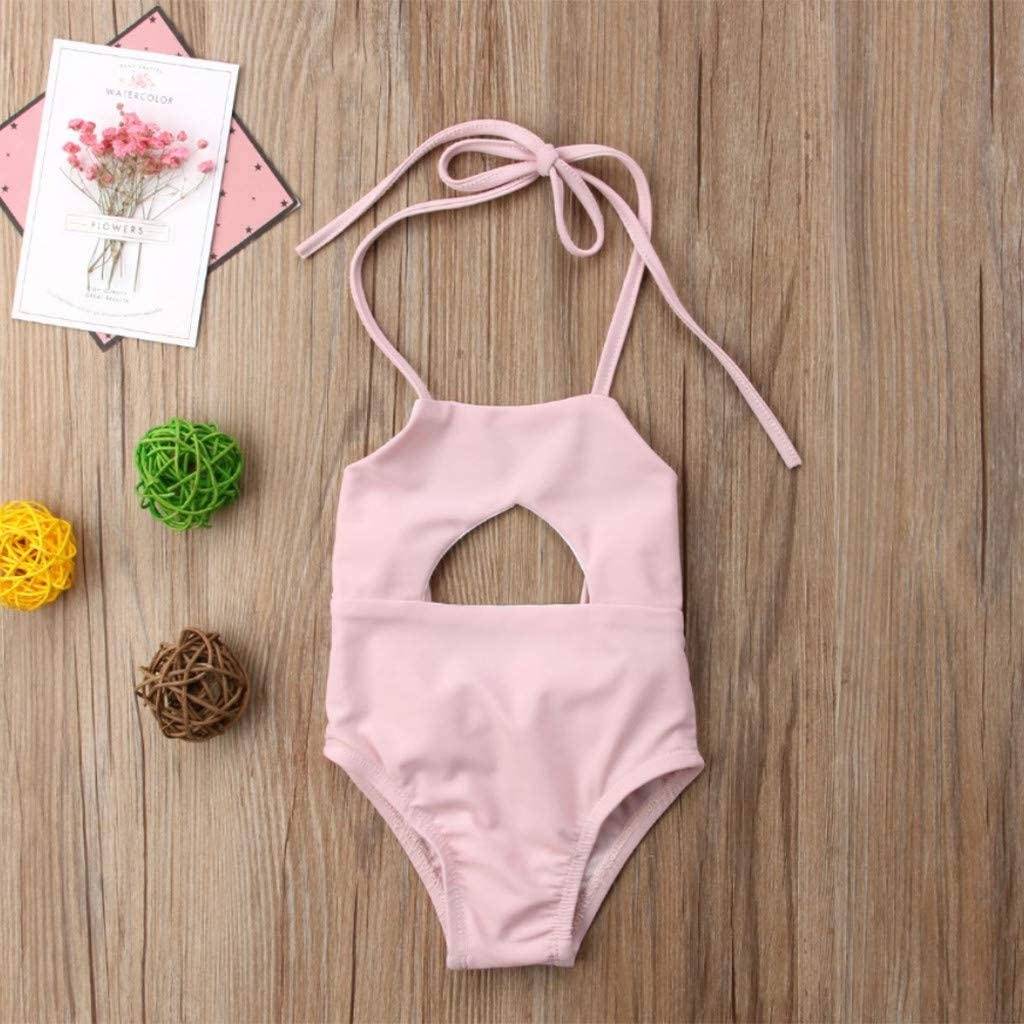 Little Girls Summer Bikini Sets,Jchen Baby Kids Girls Swimsuits One Piece Backless Bowknot Bathing Suits for 0-24 Months