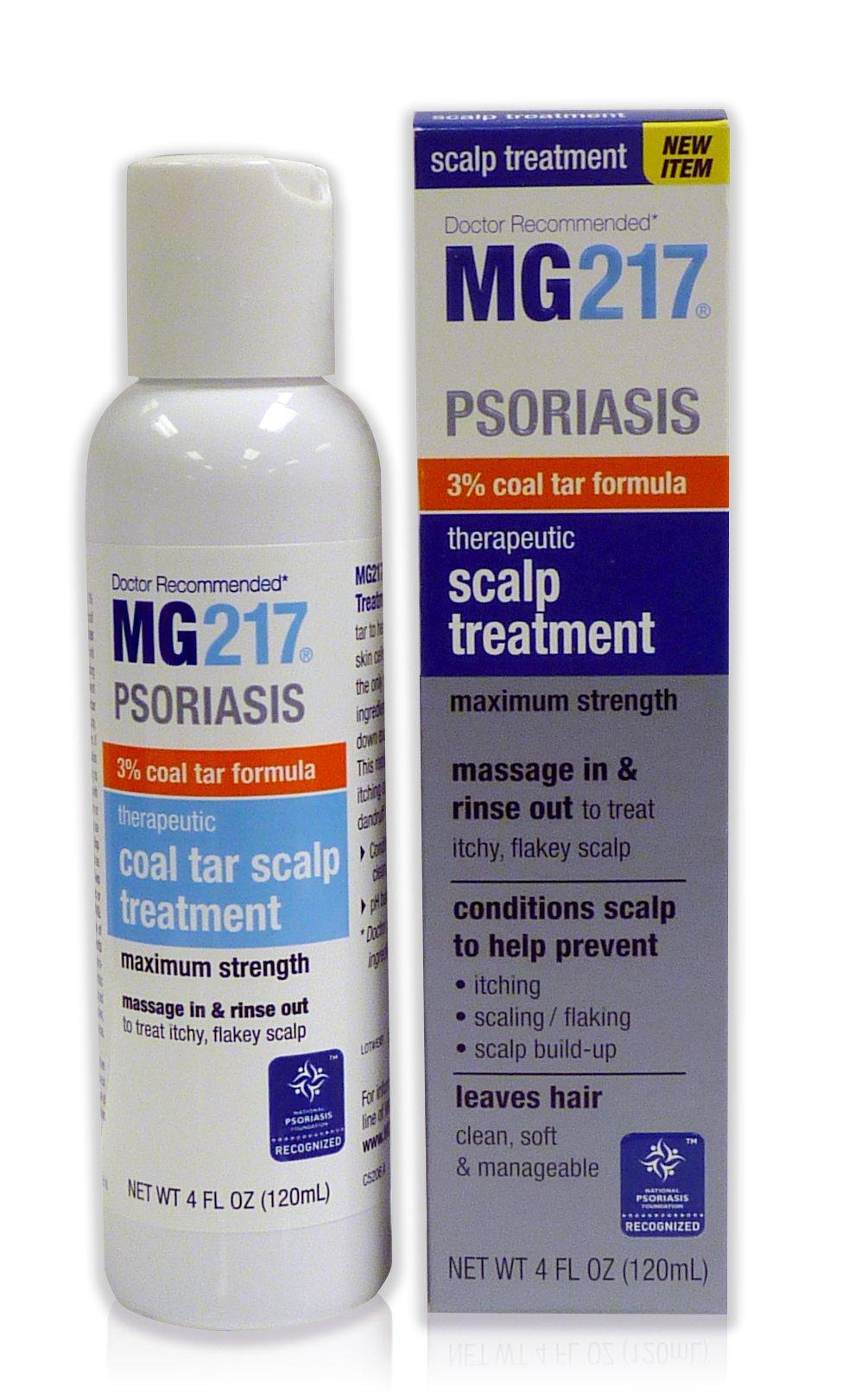MG217 Psoriasis 3% Coal Tar Therapeutic Scalp Treatment, 4 Fl Oz