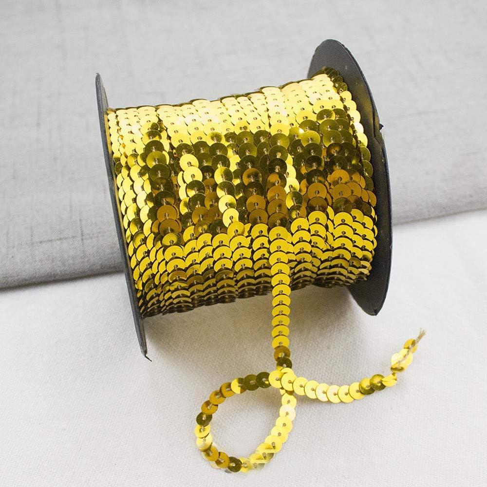 Armee Gr/üner Laser f/ür Hochzeit Handwerk Basteln,Bauchtanz Deko,Tanzbekleidungen UVM. RAILONCH 90m*6mm Pailletten B/änder DIY Paillettenband
