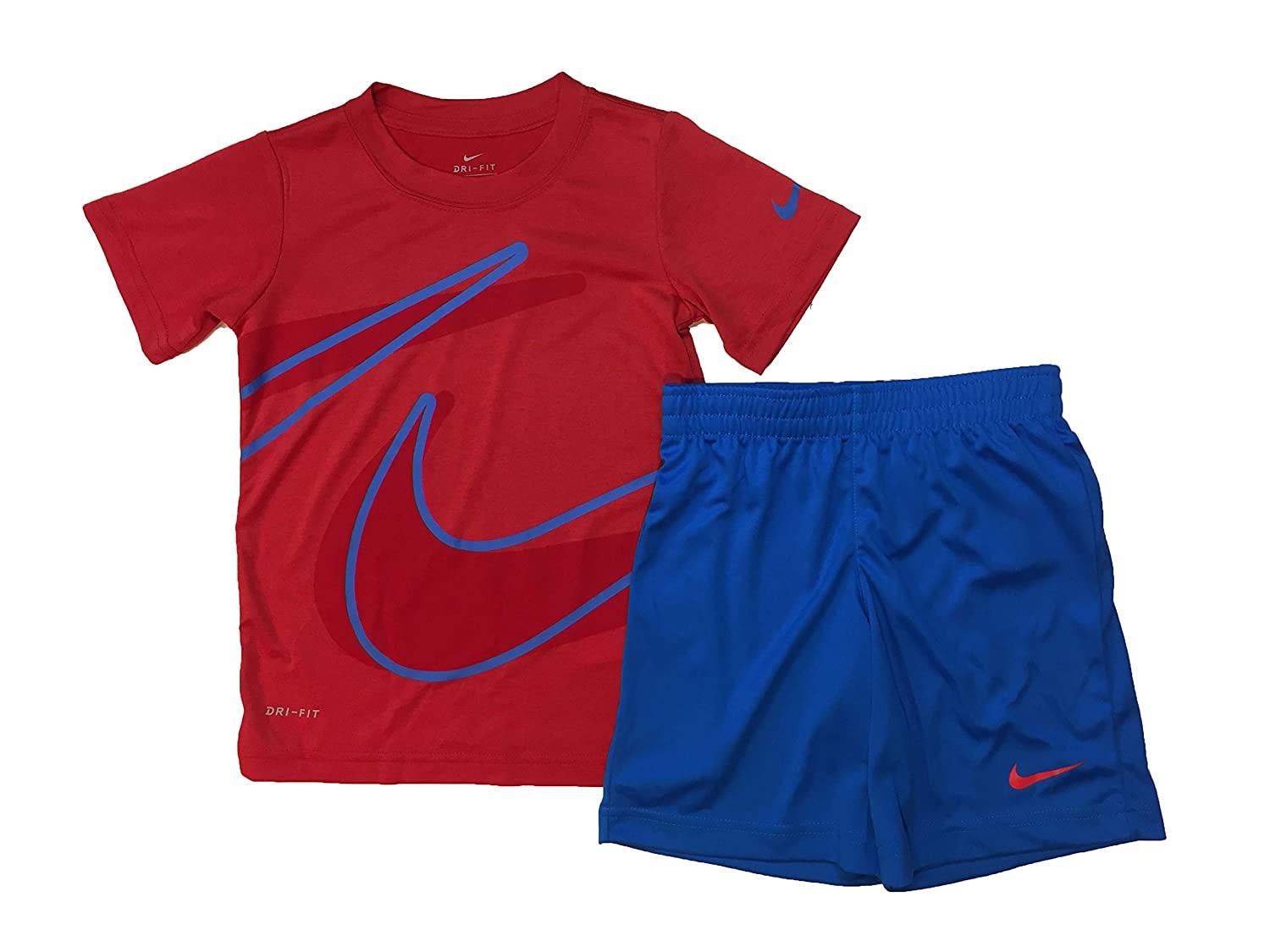 dce9aecc740 Amazon.com  Nike Boy`s Dri-Fit T-Shirt   Shorts 2 Piece Set  Sports    Outdoors
