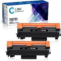 LxTek Compatible Toner Cartridge Replacement for Brother TN760 TN 760 TN730 to use with HL-L2350DW DCP-L2550DW MFC-L2710DW HL-L2395DW MFC-L2750DW HL-L2370DW HL-L2390DW Printer (Black, 2-Pack)
