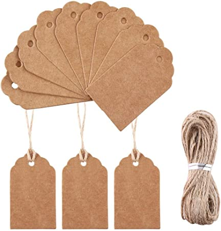 100PCS DIY Kraft Brown Gift Paper Thank You Gift Tags Bonbonniere Tags JJ