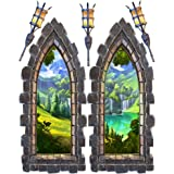Castle Window Large Wall Decal Set