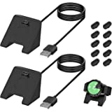 [2 Pack] Charger Cable for Garmin Watch, 3.3FT USB Charging Cord Charger Dock for Garmin Vivoactive 4/Vivoactive 4S…