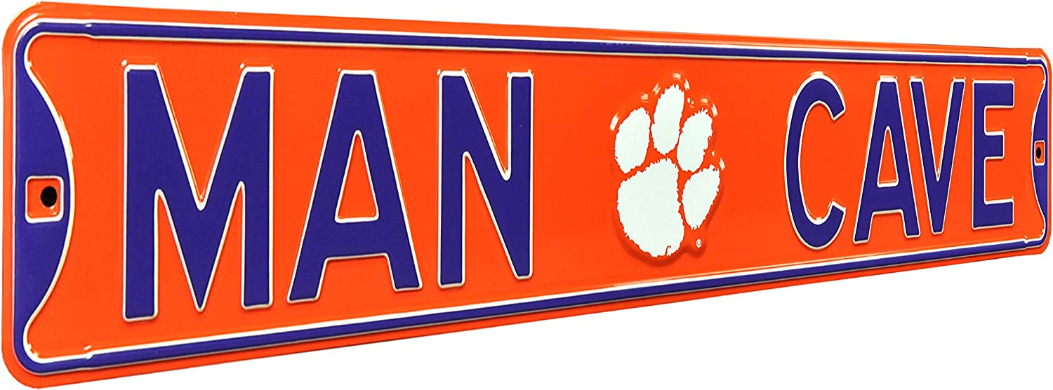 Authentic Street Signs NCAA Fanshop Metal Man Cave Sign