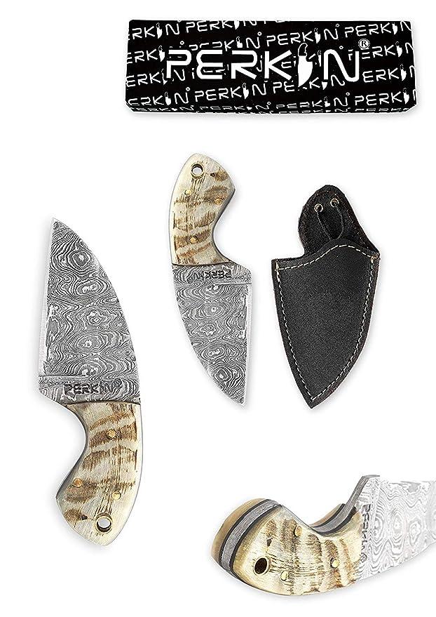 Perkin Knives Cuchillo de bushcraft Cuchillo de Caza pequeño ...