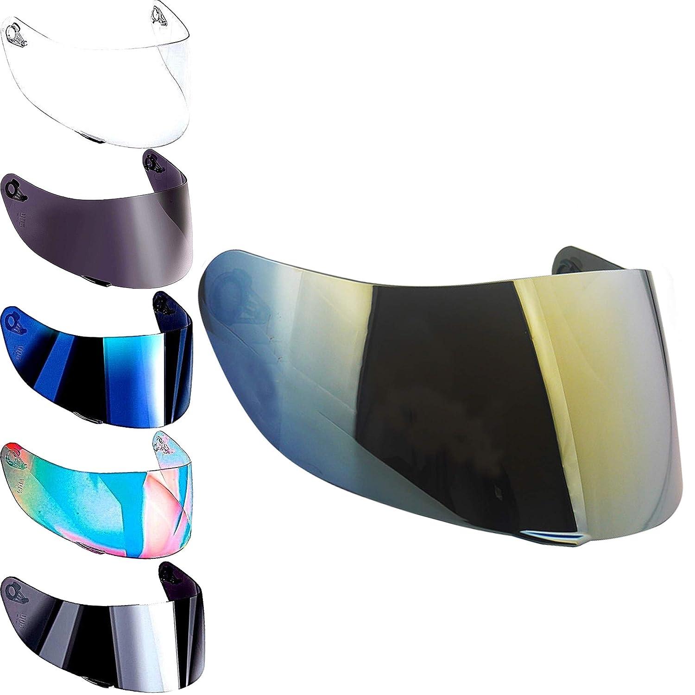 Visera Agv K3 sv K1 K5 K5s s4-sv Horizon Skyline Stealth Numo Casco Todos Los Tama/ños Pantella No Original Aftermarket Iridium Blu