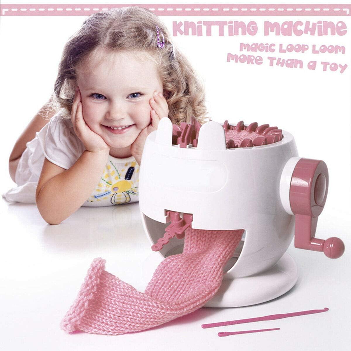 YOMENG Portable Needle Hand Knitting Machine Portable Smart Weaver Knitting Round Loom Educational Toys