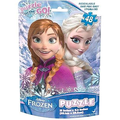Disney Frozen 48 piece Puzzle features Anna & Elsa: Toys & Games
