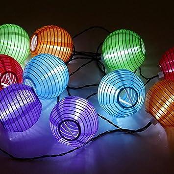 guirlande lanterne guirlande de lanternes solaires with. Black Bedroom Furniture Sets. Home Design Ideas