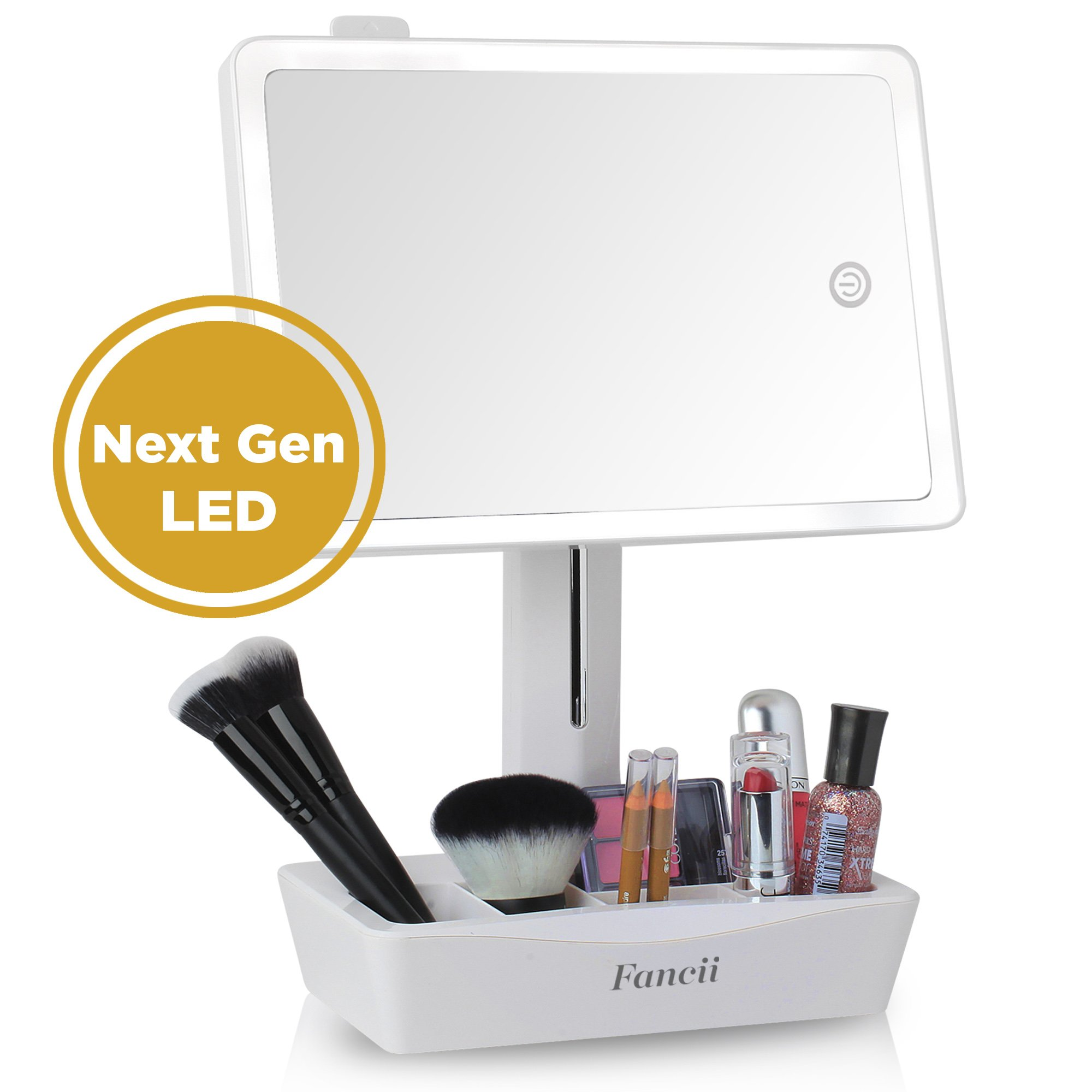 Fancii Led Lighted Large Vanity Makeup Mirror With 10x