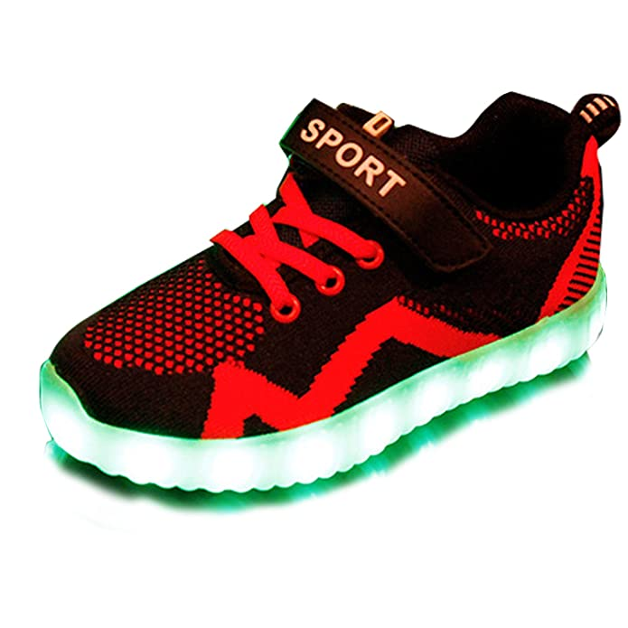 Gaorui Kids Boys Girls LED Light Up Breathable Mesh Trainers USB Charging  Flashing Sneakers: Amazon.co.uk: Shoes & Bags