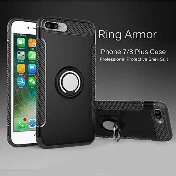 Amazon Com Iphone 8 Plus Case Iphone 7 Plus Case With Grip Ring And