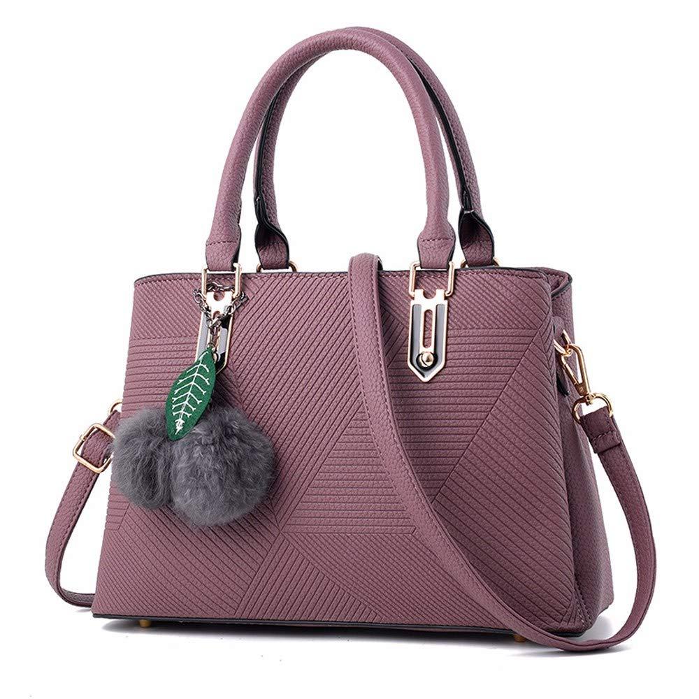 Qiruian Damen Handtaschen Handtaschen Handtaschen Crossbody PU Leder Einfach Umhängetasche Messenger Schultertaschen Tote Tasche Haarball-Anhänger B07Q2SKBPF Umhngetaschen Sehr gute Klassifizierung 6d9293
