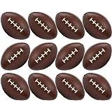 Neliblu 12 pelotas de fútbol para deportes de fútbol, paquete a granel de 1 docena de bolas de estrés, para fútbol americano,
