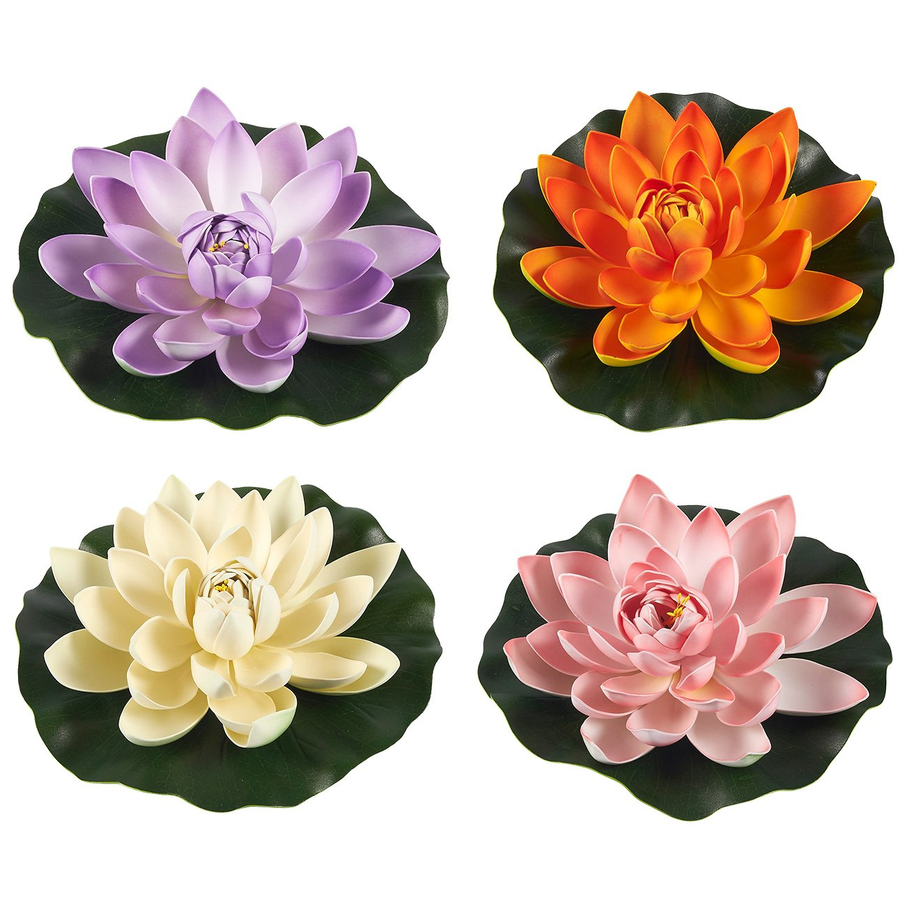 Amazon Juvale Floating Flowers Set Of 4 Artificial Water