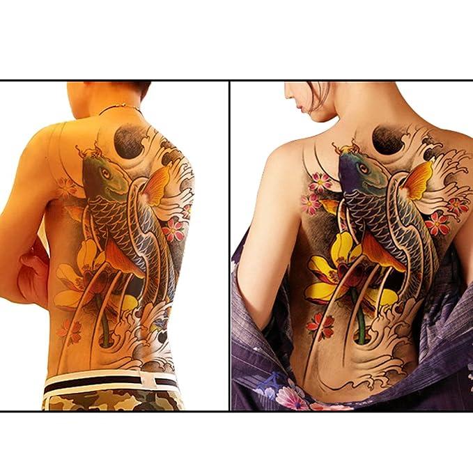 TAFLY carpas Koi peces completo de la espalda temporal diseño de ...