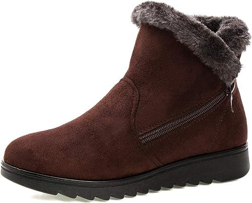 Saldgoiz Stivali Donna Invernali Scarpe Stivaletti da Neve con Imbottitura Calda Stivali alla Caviglia Caldi Boots Scarpe 35 42
