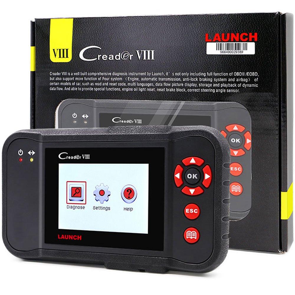 Launch X431 Creader VIII Code Reader Creader 8 ENG/AT/ABS/SRS EPB SAS Oil Service Light resets