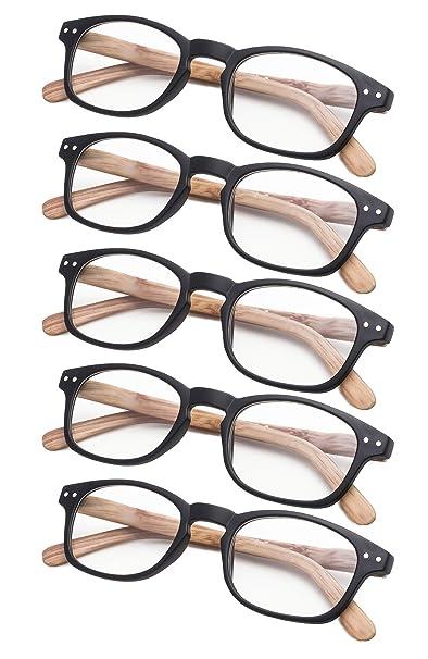 Amazon.com: Juego de 5 gafas de lectura de brazos con ...