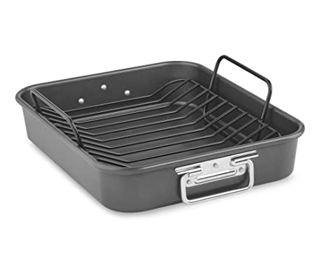 Kitchenaid Kbnso16rp 16 Aluminized Steel Roaster With Rack Nonstick