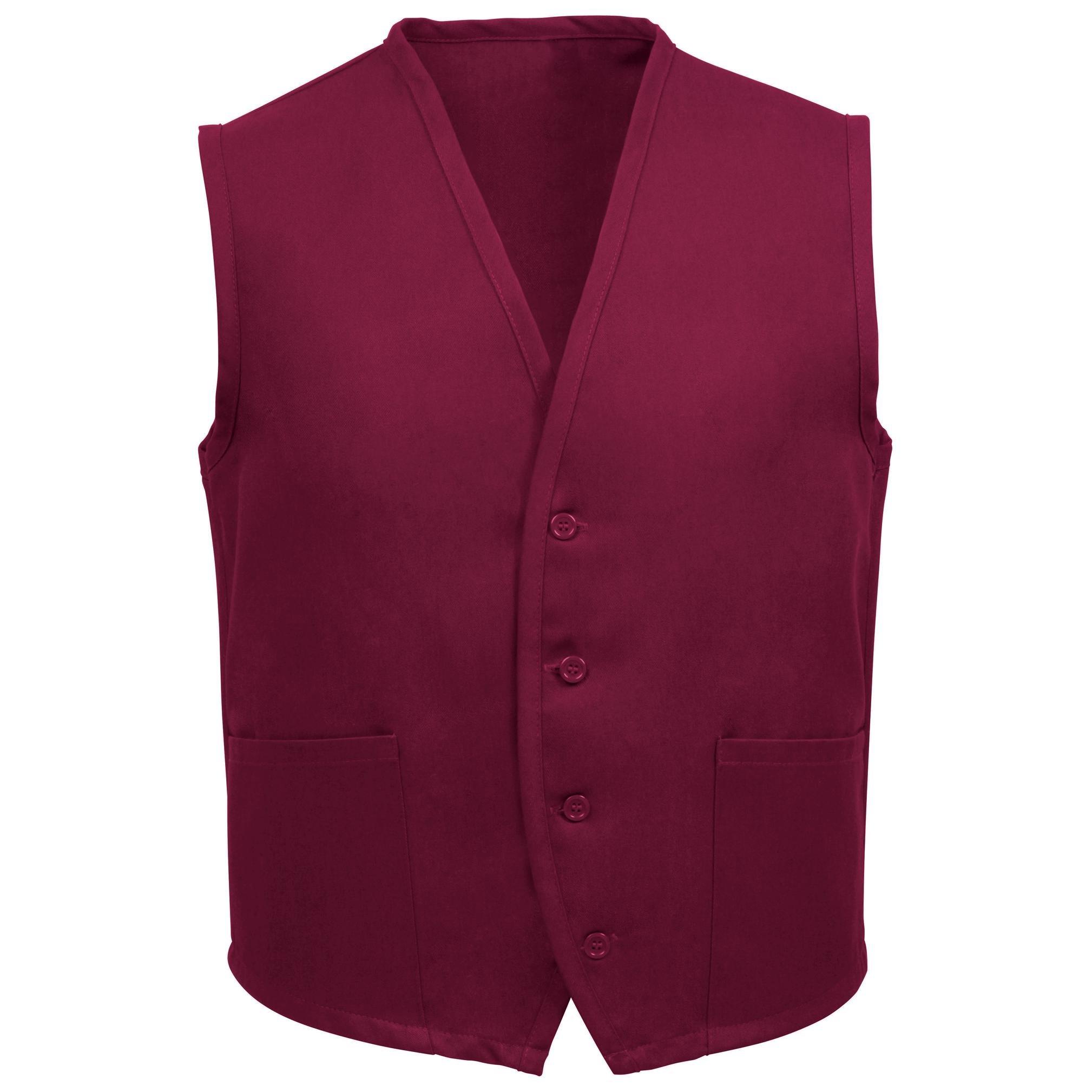 Fame Adult's 2 Pocket Vest-Burgundy-2XL by Fame Fabrics