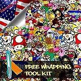 Free Tool Kit MAO JDM Bomber Anime Graffiti Cartoon Car Auto Laptop Vinyl Wrap Sticker Decal Film Sheet - 60''X600''