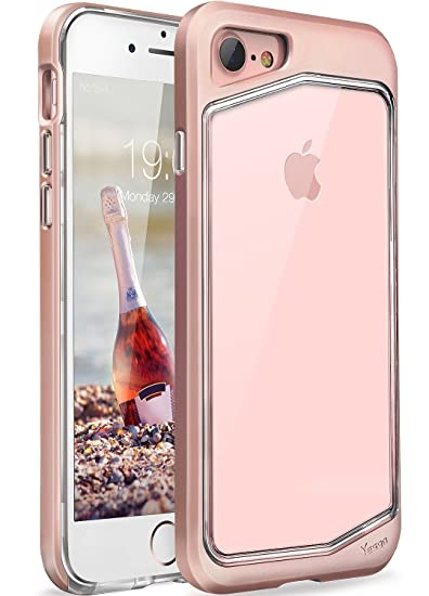 low priced aba42 bb7a0 Yesgo Compatible with iPhone 7 Case, Shockproof Slim Anti-Scratch  Protective Kit with Heavy Duty Dual Layer Rugged Case Non-Slip Grip Cover  for iPhone ...