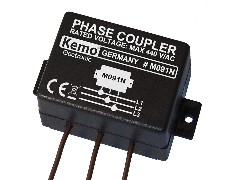 KEMO Phasenkoppler f/ür Powerline Produkte