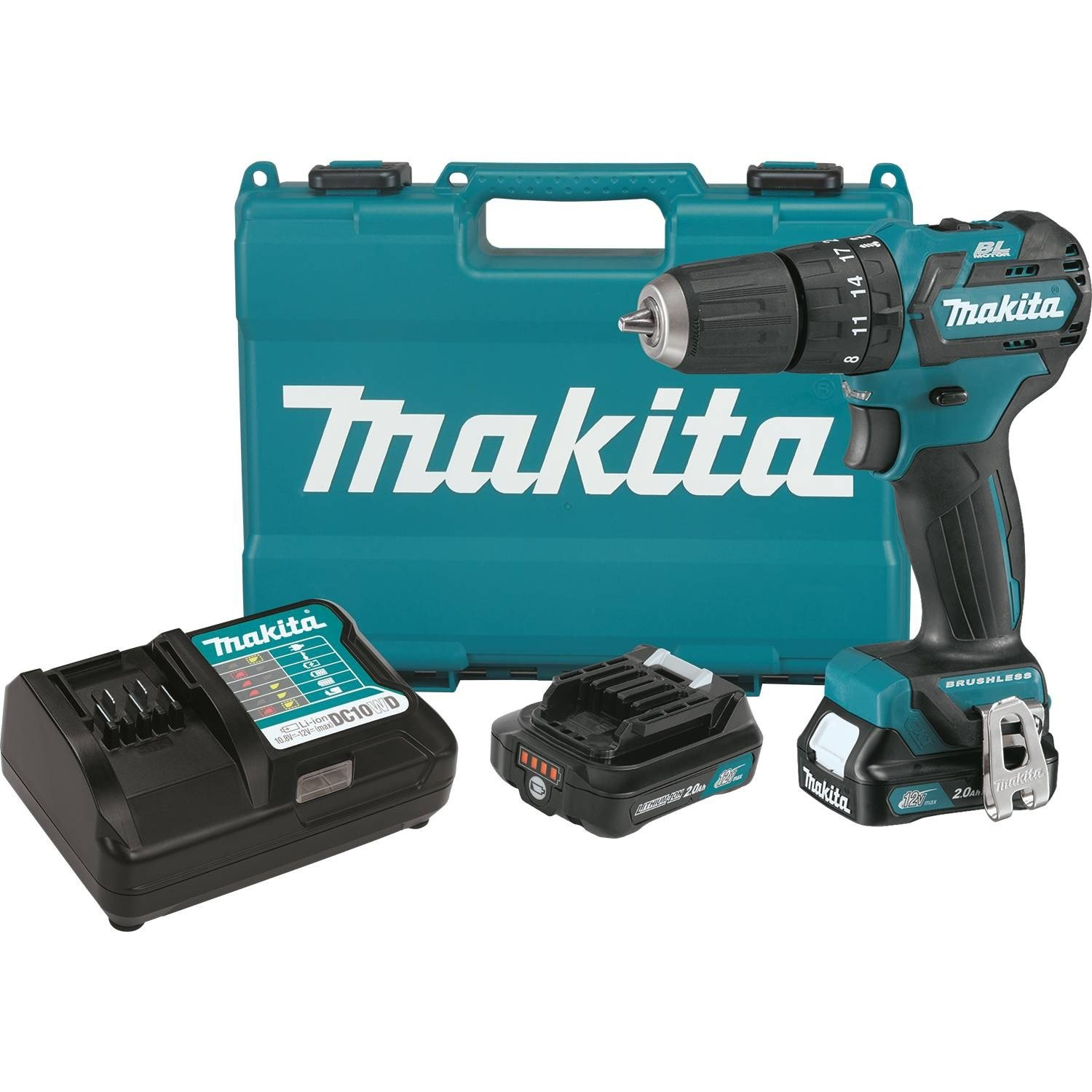 Makita PH05R1 12V max CXT Lithium-Ion Brushless Cordless 3 8 Hammer Driver-Drill Kit 2.0Ah